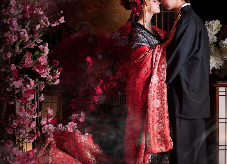 日本豪華雙人花魁攝影