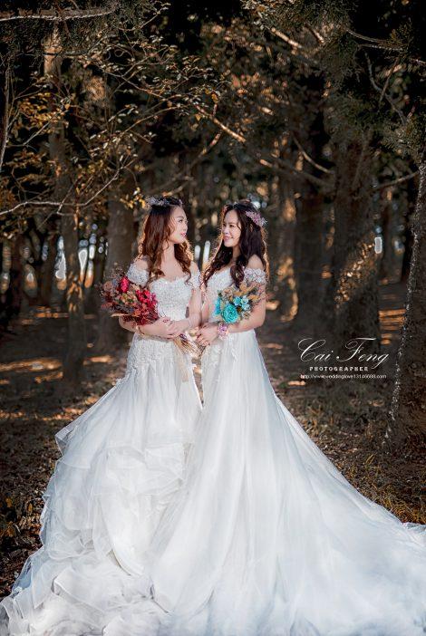 九天森林/閨蜜婚紗/台中自助婚紗/台中婚紗包套/客製化婚紗/婚紗外拍/女攝影師